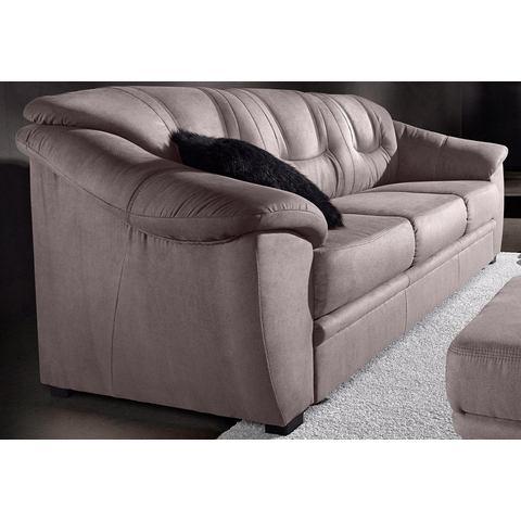 woonkamer driepersoons bankstel grijs Luxe imitatieleer SIT en MORE in 4 bekledingskwaliteiten