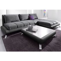 hoekbank in lounge-design zwart