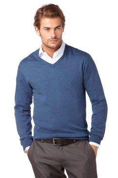class international pullover met v-hals blauw