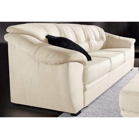 woonkamer driepersoons bankstel beige Luxe imitatieleer SIT en MORE in 4 bekledingskwaliteiten