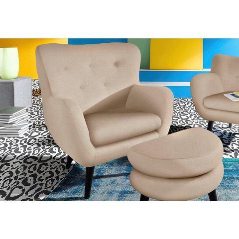 INOSIGN TV-fauteuil met houten pootjes