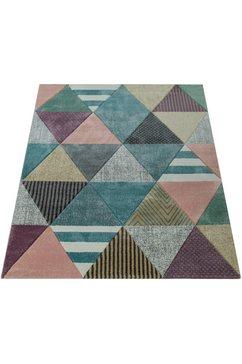 paco home vloerkleed »mia 054«, paco home, rechthoekig, hoogte 17 mm, machinaal geweven multicolor