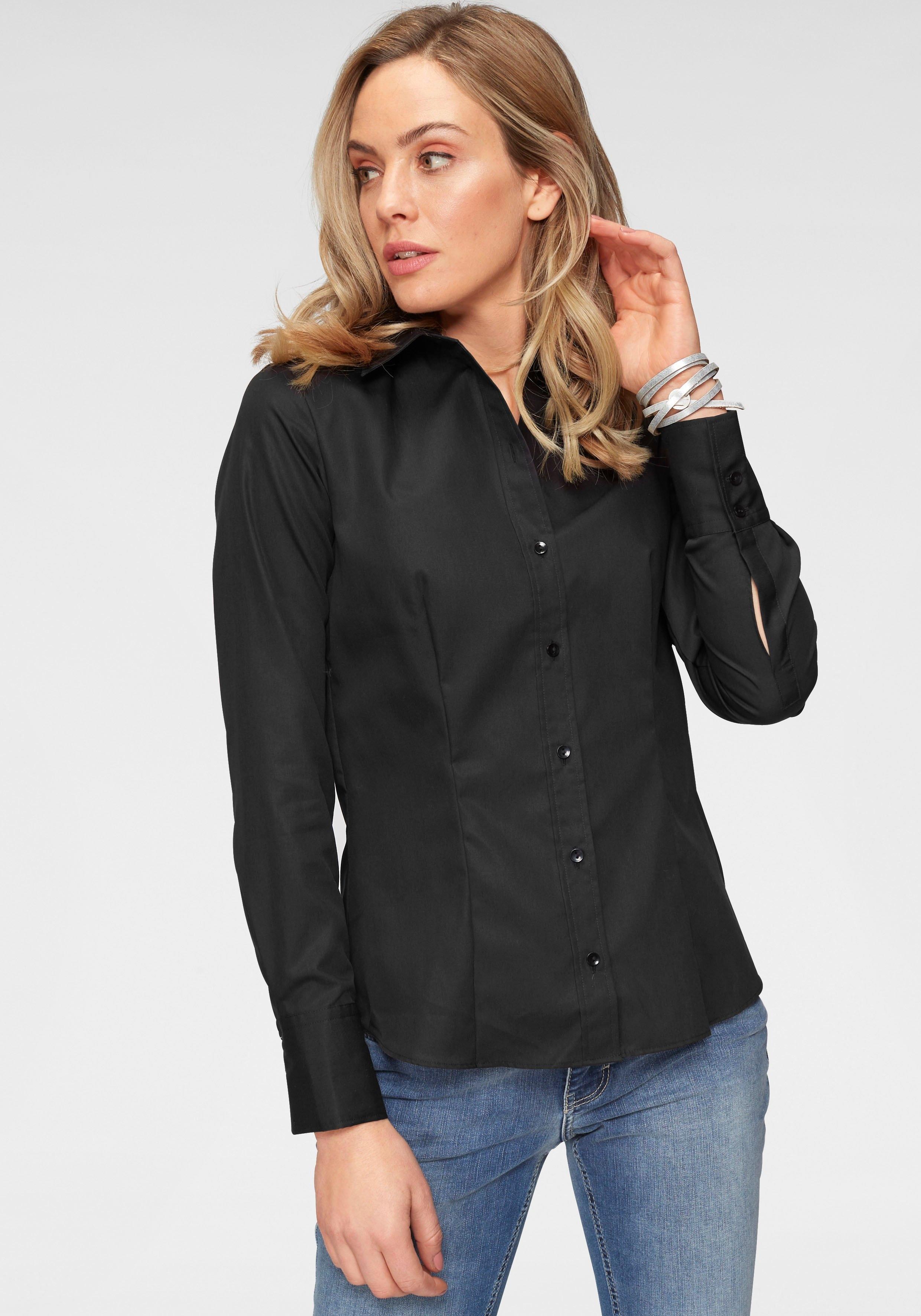 seidensticker klassieke blouse met extra brede manchetten online kopen op otto.nl