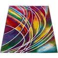 vloerkleed, »canvas 902«, paco home, rechthoekig, hoogte 18 mm, machinaal geweven multicolor