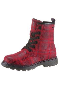 tom tailor hoge veterschoenen met ademende tex-uitvoering rood