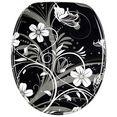 sanilo toiletzitting white flower zwart