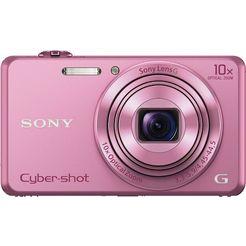 sony cyber-shot dsc-wx220 compakt camera, 18,2 megapixel, 10x opt. zoom, 6,8 cm (2,7 inch) display roze