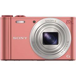 sony cyber-shot dsc-wx350 compakt camera, 18,2 megapixel, 20x opt. zoom, 7,5 cm (3 inch) display roze