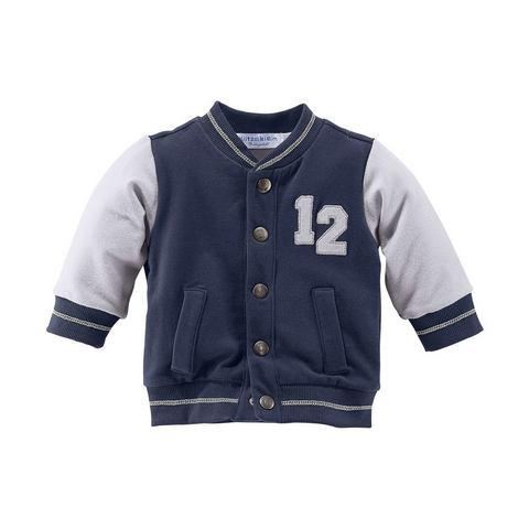 KLITZEKLEIN Baby-sweatvest in baseball-stijl