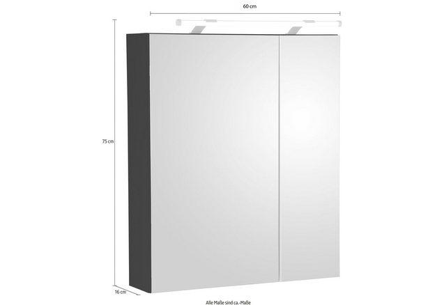 Schildmeyer spiegelkast diana breedte 60 cm nu online for Spiegelkast 60 cm breed