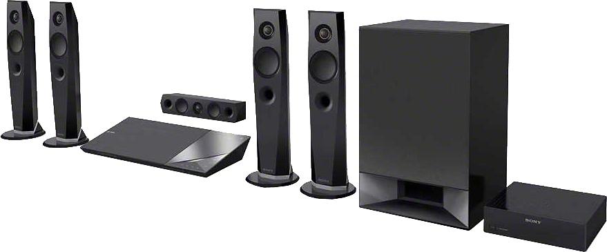 SONY BDV-N7200W thuisbioscoop, Blu-ray speler, 1.200 W, 3D, WLAN, NFC, Bluetooth - verschillende betaalmethodes