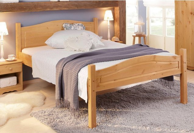 HOME AFFAIRE Bed van massief hout