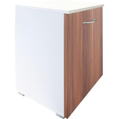 KESPER kast Trent met 1 deur bruine badkamer wastafelonderkast 71