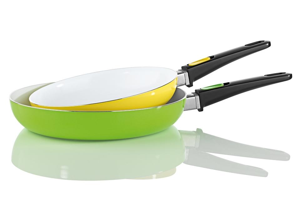 keramische pan met afneembare greep in set van 2 online shoppen | otto