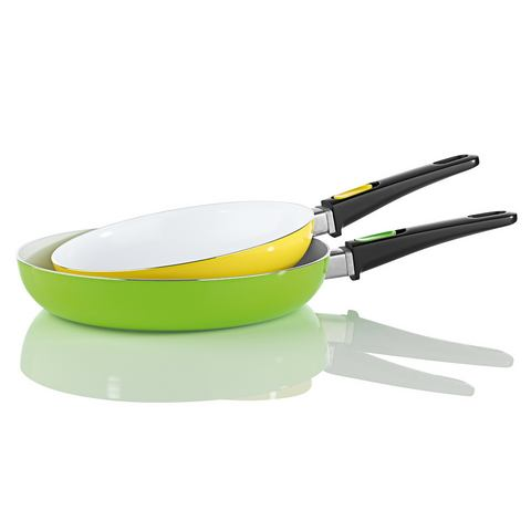 Keramische pan met afneembare greep in set van 2
