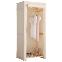 home affaire garderobekast met hoes beige