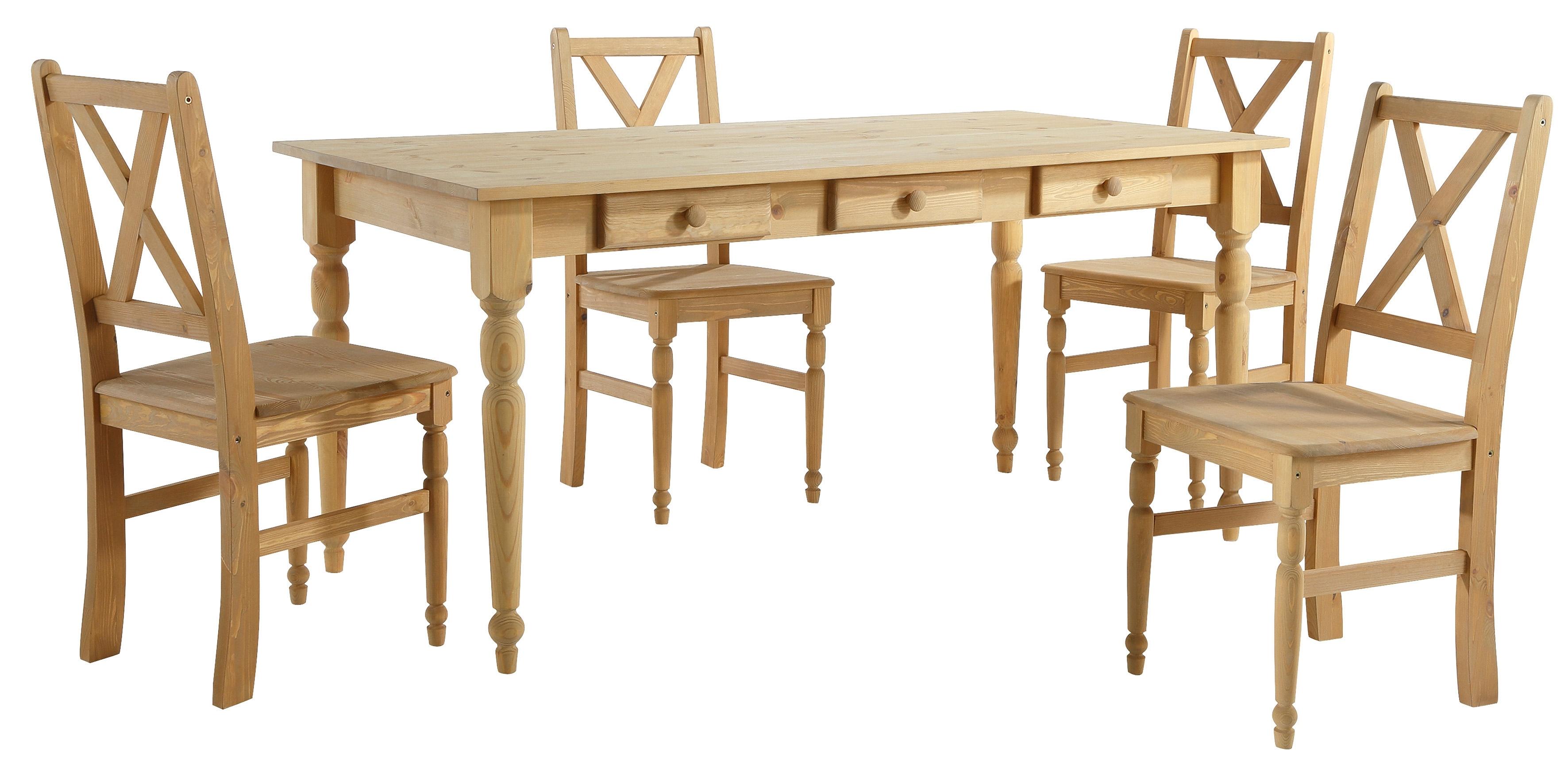 home affaire eethoek van massief hout 5 delig makkelijk besteld otto. Black Bedroom Furniture Sets. Home Design Ideas