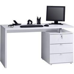 maja moebel bureau met laden wit