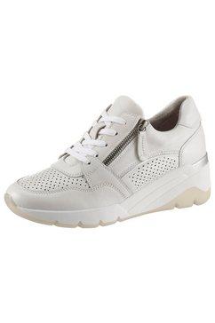 jana sneakers met sleehak met comfortwijdte g (wijd) wit