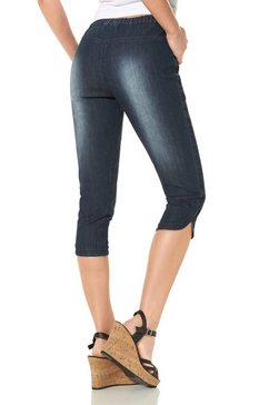 corley collection capri-jeans van stretch-denim blauw
