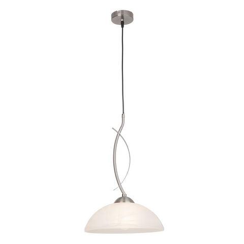 BRILLIANT Hanglamp van glas en metaal 1 fitting