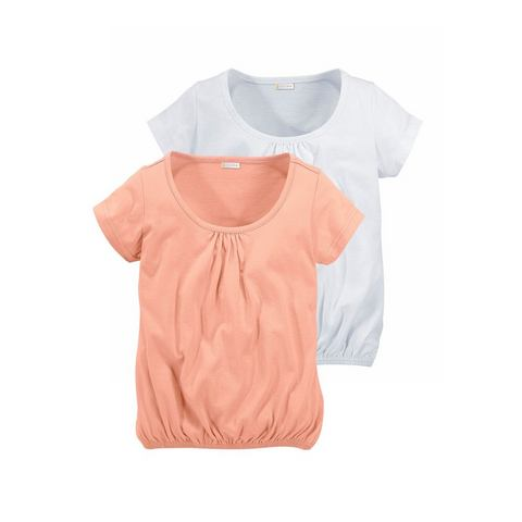 PETITE FLEUR T-shirt voor meisjes in set van 2