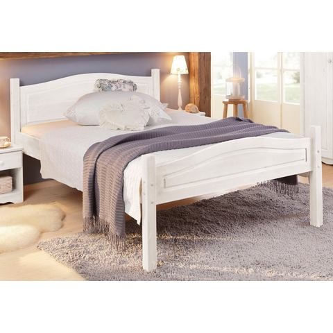 HOME AFFAIRE Bed van massief hout wit Home Affaire 838665