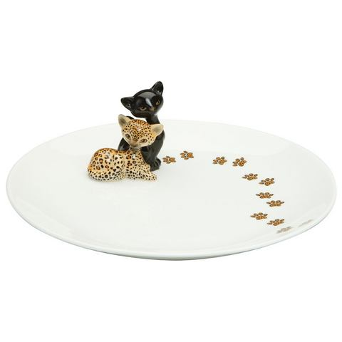 GOEBEL Bord Kitty met pootafdrukken