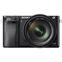 sony systeemcamera alpha ilce-6000z gezichtsherkenning, hdr-opname zwart