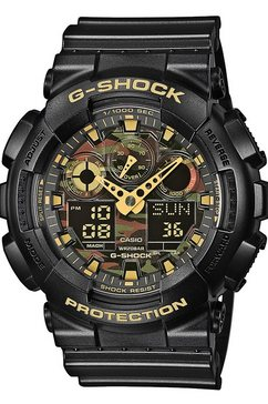 casio g-shock chronograaf »ga-100cf-1a9er« zwart