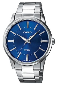 casio collection kwartshorloge »mtp-1303pd-2avef« zilver