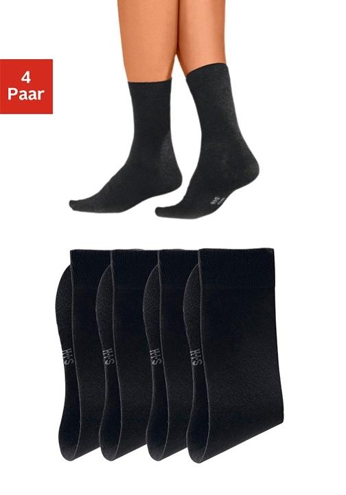 H.I.S basic sokken (set van 4 paar) met een hoog percentage katoen - verschillende betaalmethodes