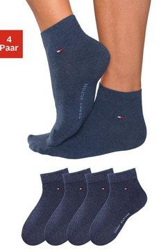tommy hilfiger korte sokken (set van 4 paar) in luxueuze katoenkwaliteit blauw