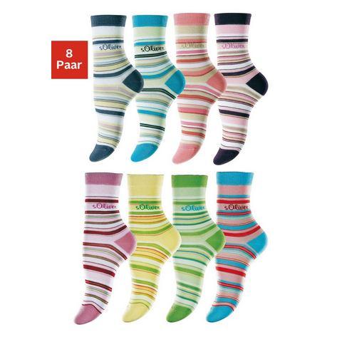 Gestreepte sokken, set van 8 paar, S.OLIVER