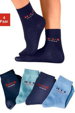 h.i.s basic sokken (set van 4 paar) made in germany blauw