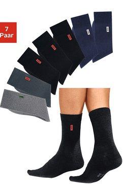 h.i.s basic sokken (set van 7 paar) met extra hoog katoenaandeel multicolor