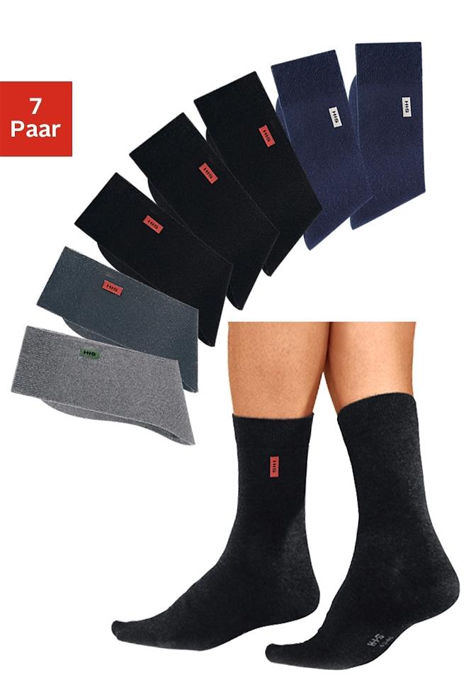 H.I.S basic sokken (set van 7 paar) met extra hoog katoenaandeel nu online bestellen
