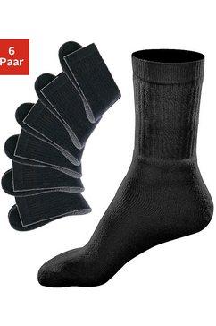 go in sportsokken met geribde schacht (6 paar) zwart