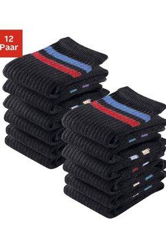 sportsokken, set van 12 paar, go in zwart