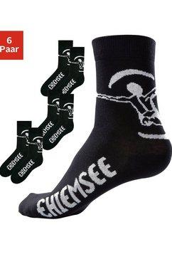 basic sokken, chiemsee, set van 3 of 6 paar zwart