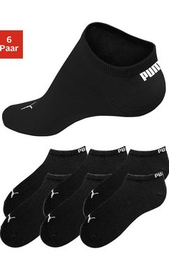 puma anklets, set van 6 paar zwart