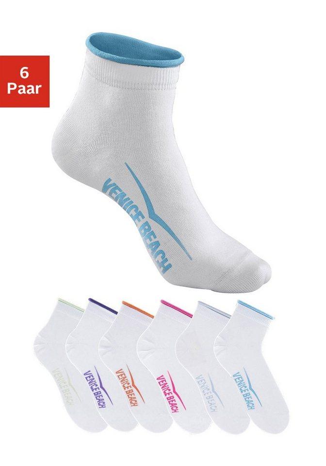 Korte sokken Venice Beach 6 paar