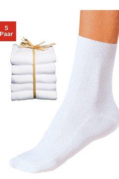 sokken, set van 5 paar wit