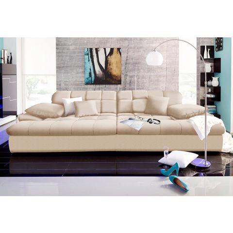 woonkamer extra groot bankstel beige Megabank 55