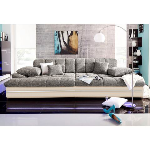 woonkamer extra groot bankstel grijs Megabank 28