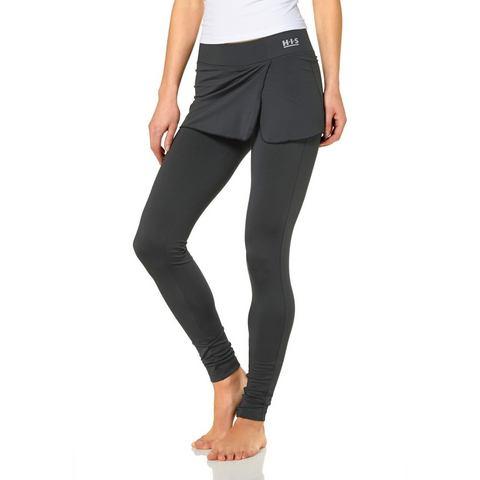 H.I.S Legging met aangezette rok in wikkel-look