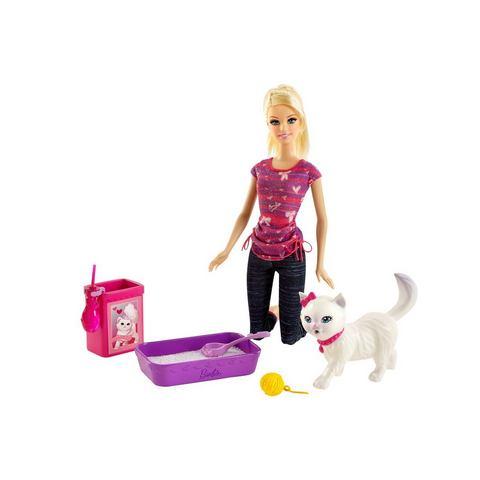 MATTEL Speelset Barbie & zindelijk poesje