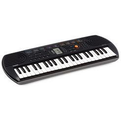 casio keyboard sa77 mini-keyboard met praktisch lcd-scherm grijs