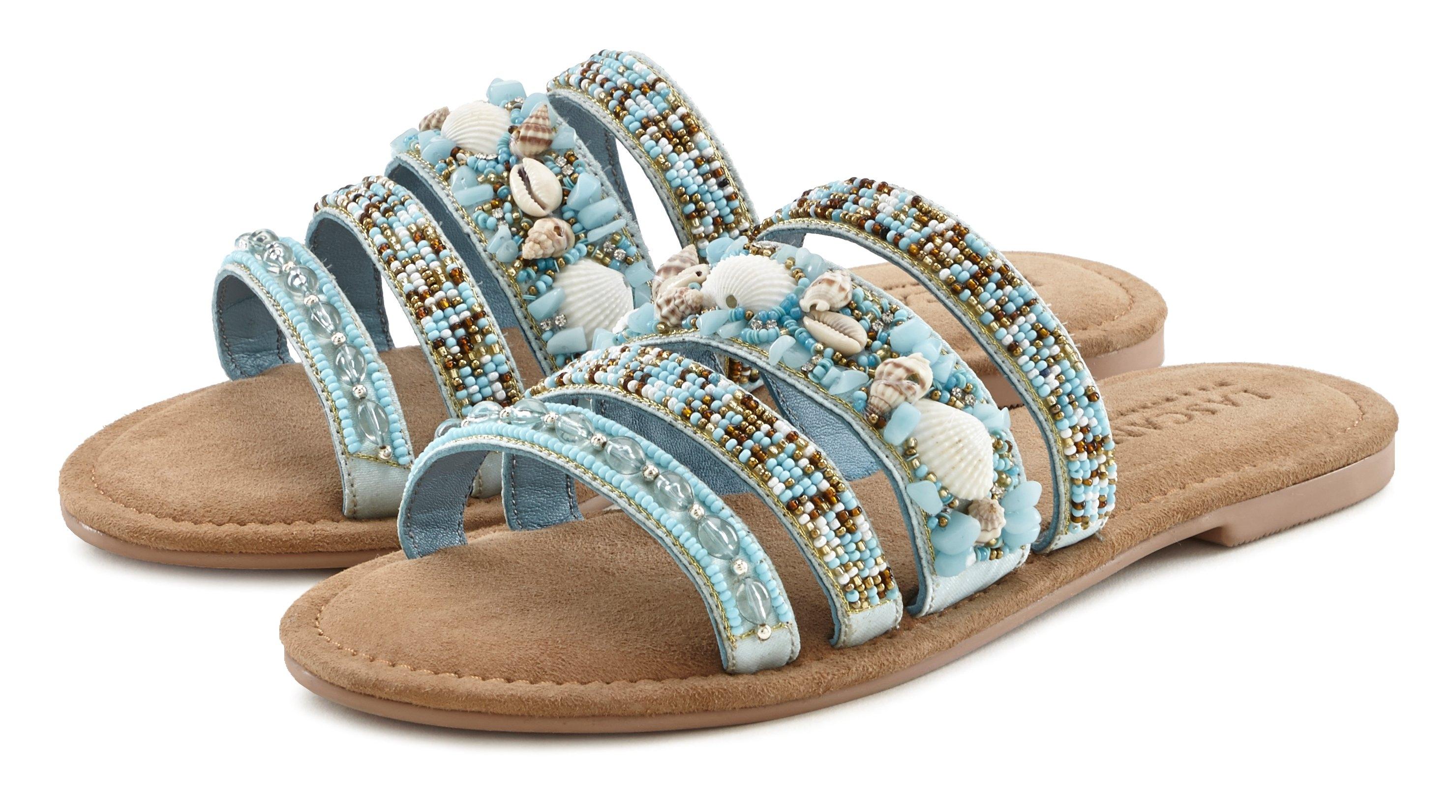 Lascana slippers met een luxueuze garnering en bijzonder zachte binnenzool veilig op otto.nl kopen
