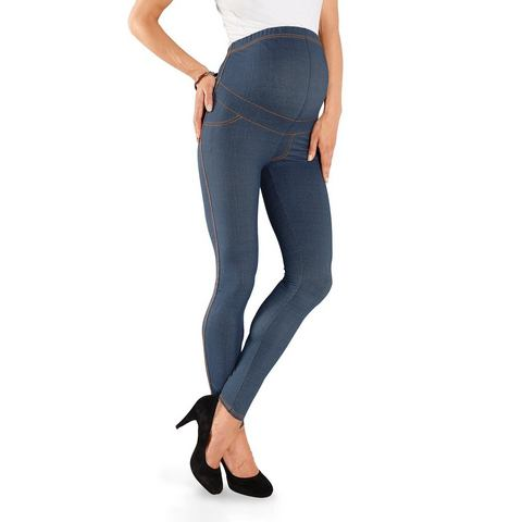 NEUN MONATE Zwangerschapslegging in jeans-look